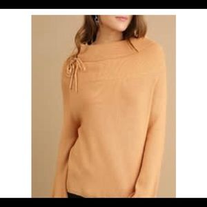 Umgee mustard color sweater NWT